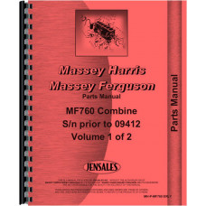 Massey Ferguson 760 Combine Parts Manual (Sn) (Early, Includes 2 Volumes)