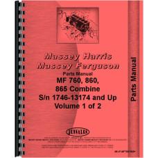 Massey Ferguson 860 Combine Parts Manual