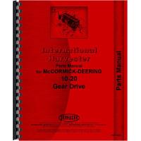 Mccormick Deering 20-10 Tractor Parts Manual