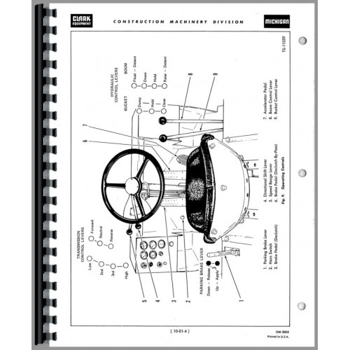 Michigan 175b Wheel Loader Operators Manual