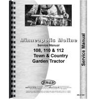 Minneapolis Moline 108 Lawn & Garden Tractor Operators ... on