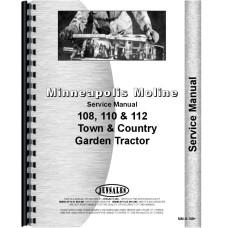 Minneapolis Moline 108 Lawn & Garden Tractor Service Manual