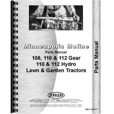 Minneapolis Moline Lawn & Garden Tractor Parts Manual