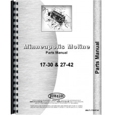Minneapolis Moline 27-42 Twin City Tractor Parts Manual
