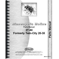 Minneapolis Moline Twin City Tractor Parts Manual (MM-P-27-44(TC))