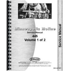Minneapolis Moline 445 Tractor Service Manual