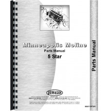 Minneapolis Moline 5 Star Tractor Parts Manual (SN# R1188A)