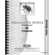 Image of Minneapolis Moline 88 Combine Parts Manual