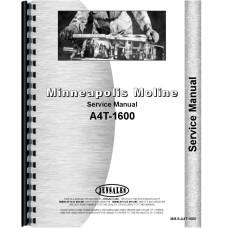 Minneapolis Moline A4T-1600 Tractor Service Manual