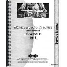 Minneapolis Moline D Universal Tractor Service Manual (1918)