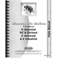 Minneapolis Moline D Universal Tractor Parts Manual