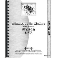 Minneapolis Moline 21-32 Twin City Tractor Parts Manual