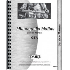 Minneapolis Moline GTA Tractor Service Manual