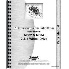 Minneapolis Moline M602 Tractor Parts Manual