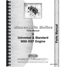 Image of Minneapolis Moline UTS Tractor Parts Manual (SN# to-334000)