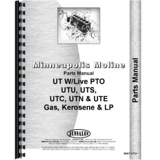 Minneapolis Moline UTE Tractor Parts Manual (1951-1952, SN# 0430001-04300261)