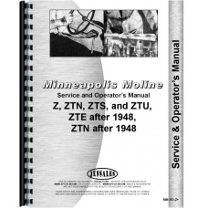 Image of Minneapolis Moline Z Tractor Service & Operators Manual (1948 and Up)