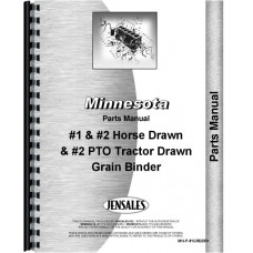 Image of Minnesota Grain Binder #1 Horse Drawn Parts Manual