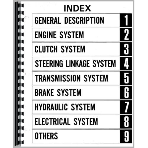 Mitsubishi d1300 tractor manual