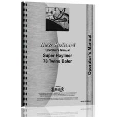 New Holland 78 Baler Operators Manual