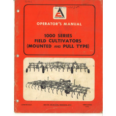 Allis Chalmers 1000 Cultivator Operator's Manual (570786)