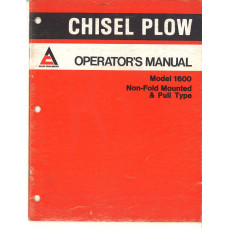 Allis Chalmers 1600 Plow Operator's Manual (586933)