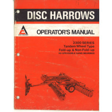 Allis Chalmers 2300 Disc Harrow Operator's Manual (588155)