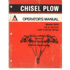 Allis Chalmers 1600 Plow Operator's Manual (591701)