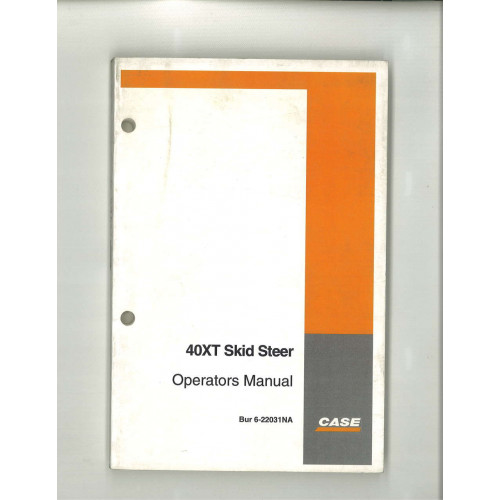 case skid steer operators manual