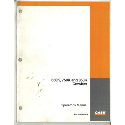 Case 850K Crawler Dozer Operator's Manual (6-32870NA)