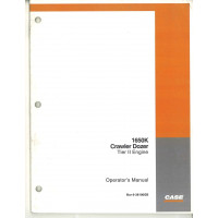 Case 1650K Crawler Dozer Operator's Manual (6-38100GB)