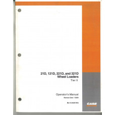 Case 321D Wheel Loader Operator's Manual (6-84231NA)