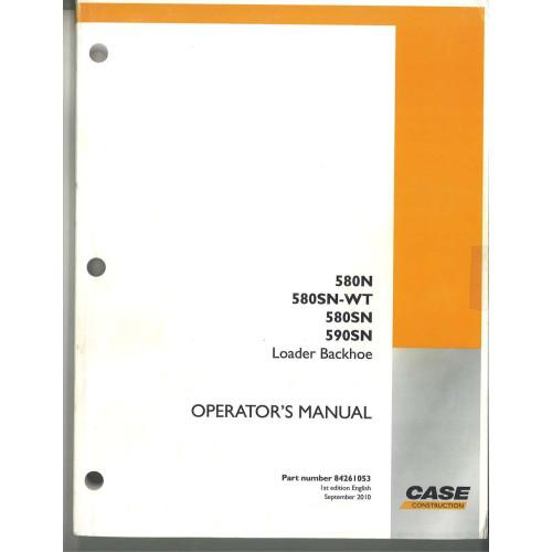 case 580sn tractor loader backhoe operator s manual 84261053 rh jensales com case 580sn manual case 580n manual