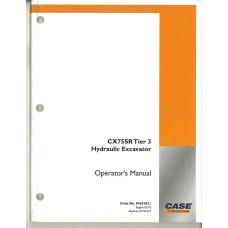 Case CX75SR Hydraulic Excavator Operator's Manual (84301821)