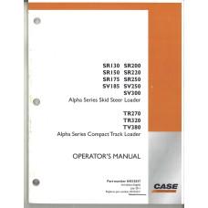 Case SR130 Skid Steer Loader Operator's Manual (84533037)