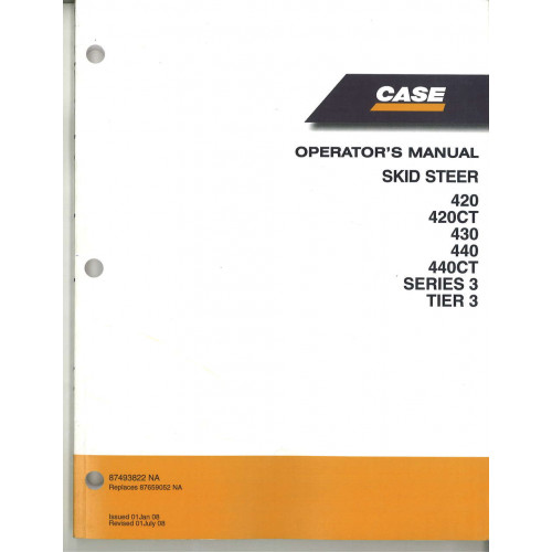 Case 420 skid steer operators manual 87493822na fandeluxe Gallery