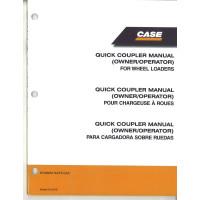 Case 821E Wheel Loader Quick Coupler (Operator's Manual (87493852)