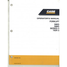 Case 588G Forklift Operator's Manual (87657901NA)
