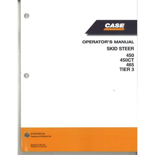 Case 465 Skid Steer Operator's Manual (87659062NA)