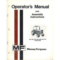 Massey Ferguson 255 Tractor Operators Manual (NOS)