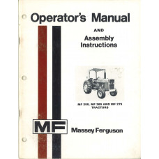 Massey Ferguson 255 Tractor Operators Manual (NOS)