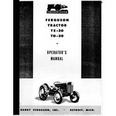 Ferguson TE20 Tractor Operator's Manual (Ferguson, NOS)