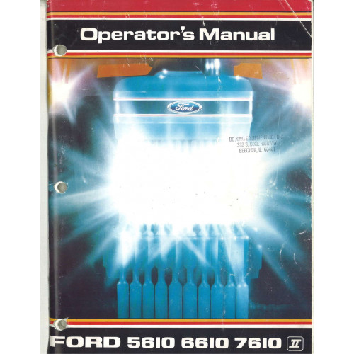 holland  tractor operators manual