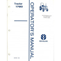 New Holland 1720 Tractor Operator's Manual (42172010)