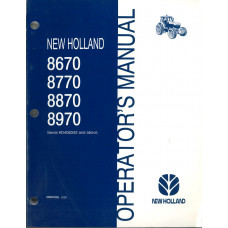 New Holland 8870 Tractor Operator's Manual (42867045)