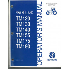 New Holland TM155 Tractor Operator's Manual (82998444)