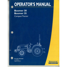 New Holland  Boomer 35 Tractor Operator's Manual (84275457)