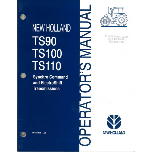 New Holland Tractor Manuals : New holland ts tractor operator s manual