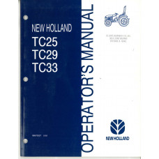 New Holland TC25 Tractor Operator's Manual (86570327)