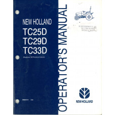 New Holland TC33D Tractor Operator's Manual (86587311)